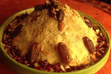 Recette couscous sucré dattes et noix